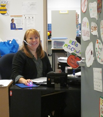 Our school's Super Secretary, Mrs. Crawford