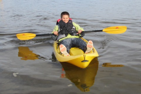 These sit-on kayaks were easy to maneuver.