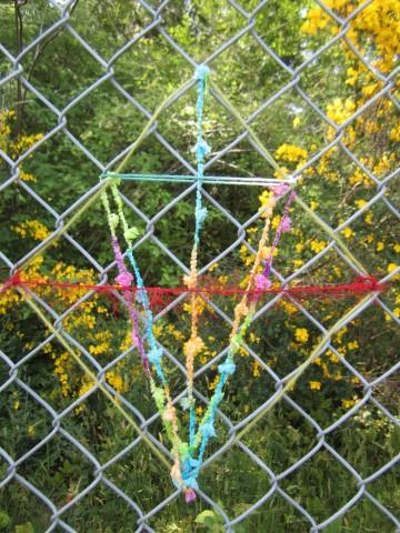 Symmetrical weaving.